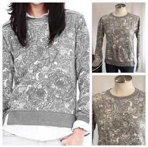 BANANA REPUBLIC Floral Appliqué Sweatshirt